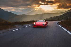 Ferrari F40 Highway Mountain 5k Wallpaper