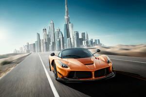 Ferrari In Dubai Wallpaper