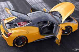 Ferrari Italia 458 Yellow Wallpaper