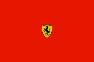 Ferrari Minimal Logo 5k Wallpaper