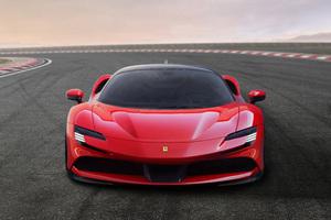 Ferrari SF90 Stradale Assetto Fiorano 2019 Front View Wallpaper