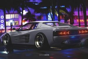 Ferrari Testarossa Digital Art