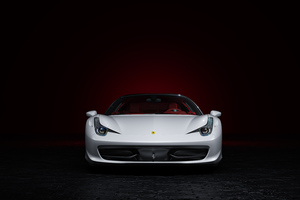 Ferrari White 4k Wallpaper