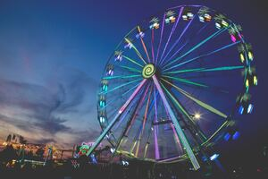 Ferris Wheel Photography 5k Wallpaper