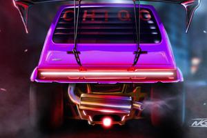 Fiat Chiqo Cyberpunk Wallpaper
