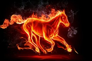Fiery Horse 4k Wallpaper