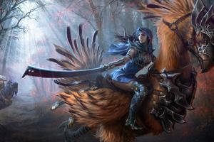 Final Fantasy Chocobo Rider Wallpaper