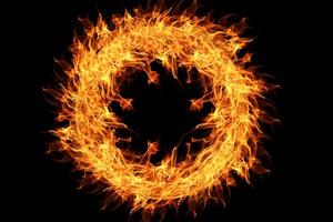 Fire Flame Ring 4k Wallpaper