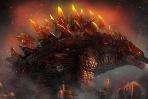 Fire Godzilla 4k Wallpaper