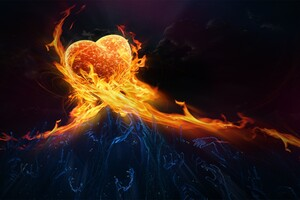 Fire Heart Digital Art