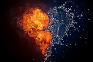 Fire Water Heart Art