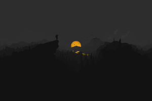 Firewatch Dark Minimal 5k Wallpaper