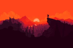 Firewatch Digital Art 4k
