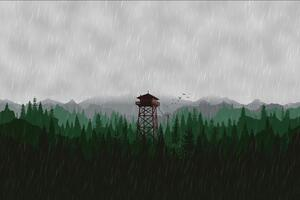 Firewatch Scenery 5k