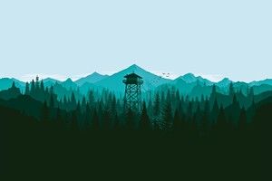 Firewatch Trees Wallpaper