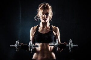Fitness Gym Girl Wallpaper