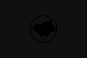 Flag Dark Minimalism Background 4k