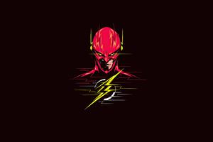 Flash 4k Minimalism 2020 Wallpaper