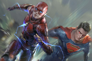 Flash And Superman Wallpaper