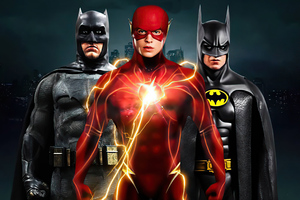 Flash And Two Batmans 4k