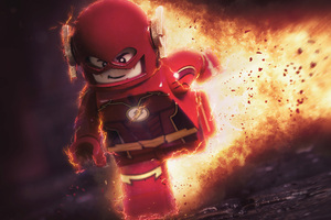 Flash Lego Toy 5k Wallpaper