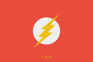 Flash Logo 4k Wallpaper