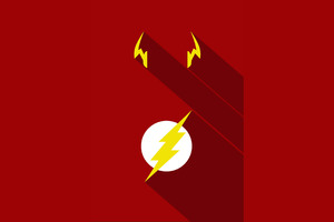 Flash Minimalism Poster Wallpaper