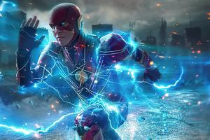 Flash Running Lightning 4k Wallpaper