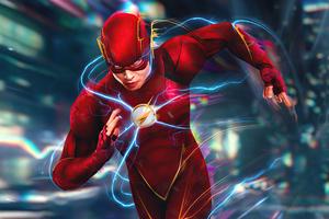 Flash Running To Flashpoint 4k