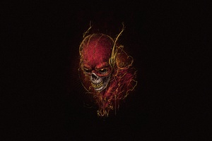 Flash Skull 5k Wallpaper