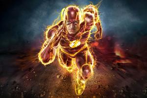Flash The Running Fire 4k Wallpaper