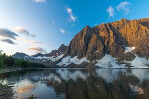 Floe Lake At Sunrise British Columbia 5k Wallpaper