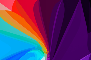 Flower Leaf Colorful Abstract 8k Wallpaper