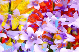 Flowers Art Abstraction