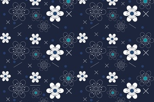 Flowers Pattern 5k Wallpaper