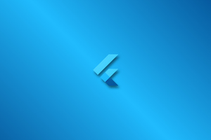 Flutter Logo 4k Wallpaper
