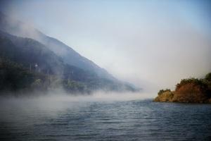 Fog Over Lake 5k Wallpaper