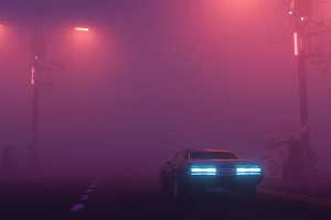 Foggy Road Car 4k Wallpaper