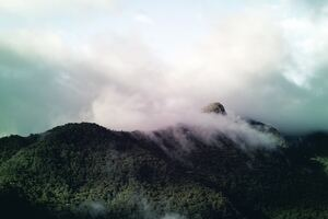 Fogy Clouds Over Mountains 4k 5k Wallpaper