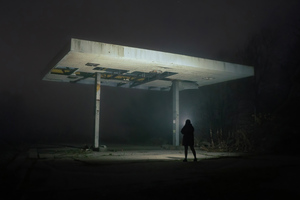 Following The Path To Gas Station Wallpaper
