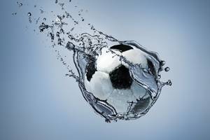 Football Water Splash Wallpaper