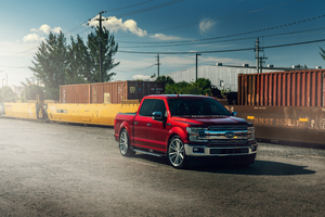 Ford F 150 Velgen Contained Ruby Red Wallpaper