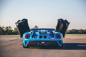 Ford Gt 2019 Wings Open 4k Wallpaper