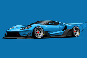 Ford GT C Vgt Minimal 4k Wallpaper