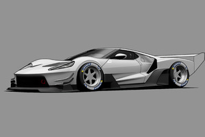 Ford GT C Vgt Minimal Grey 4k Wallpaper