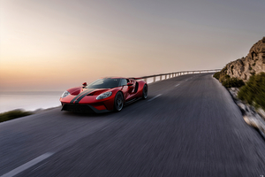 Ford Gt Red 4k Wallpaper