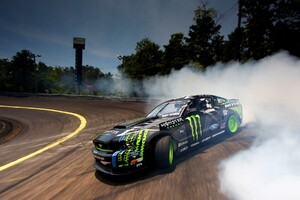 Ford Monster Drifting Smoke
