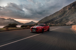 Ford Mustang 50 Gt Race Red Wallpaper