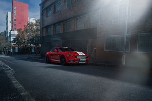 Ford Mustang 50 Gt Race Red 4k Wallpaper