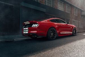 Ford Mustang 50 Gt Race Red 5k Wallpaper